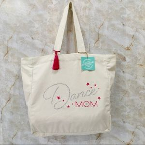 Cotton Reusable Tote Bag DANCE MOM Extra Large NWT